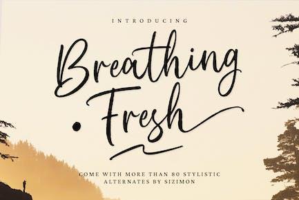 Breathing Fresh Script Font