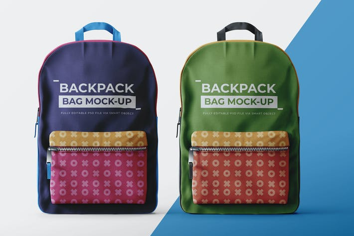 Thumbnail for Backpack Mock-Up Template