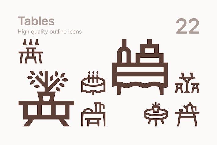 Tabellen-Icons