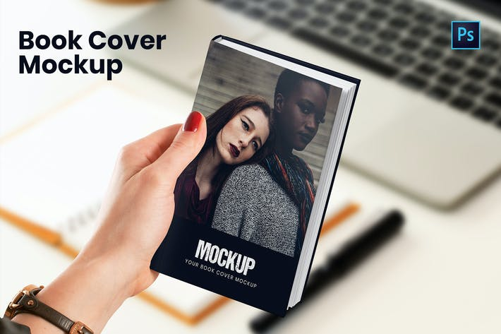 Thumbnail for Book Cover PSD Mockup