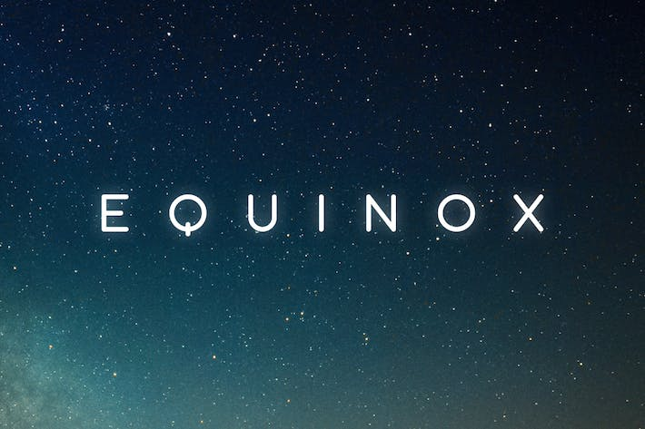 Thumbnail for Equinox Typeface
