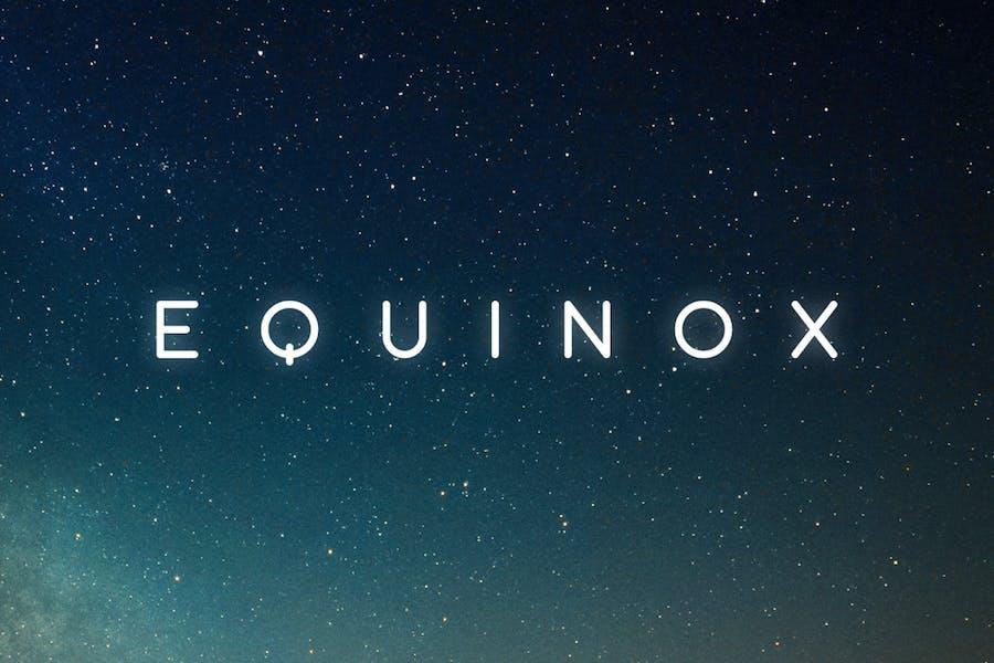 Equinox Tipo de letra