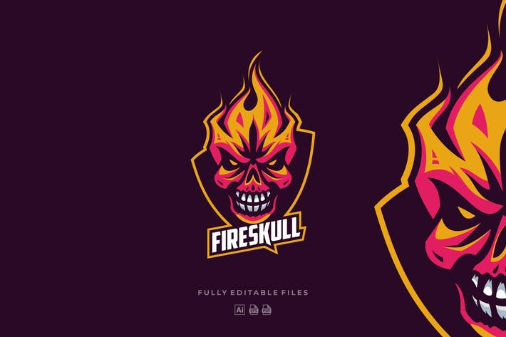 Thumbnail for Fire Skull Sports and E-sports Logo