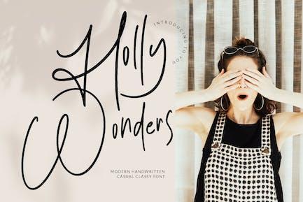 Holly Wonders Wedding Font