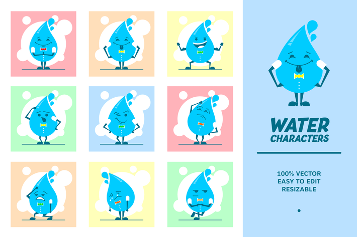 Thumbnail for Water Characters v.3