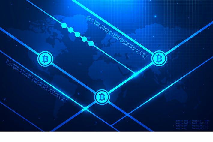 Thumbnail for Bitcoin Technology Vektor Illustration 13