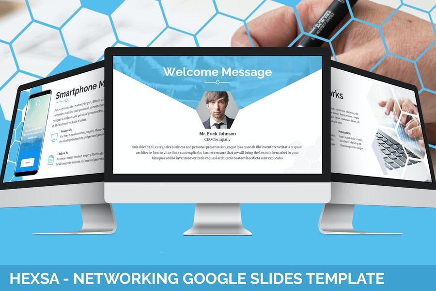 Hexsa - Networking Google Slides Template - product preview 0
