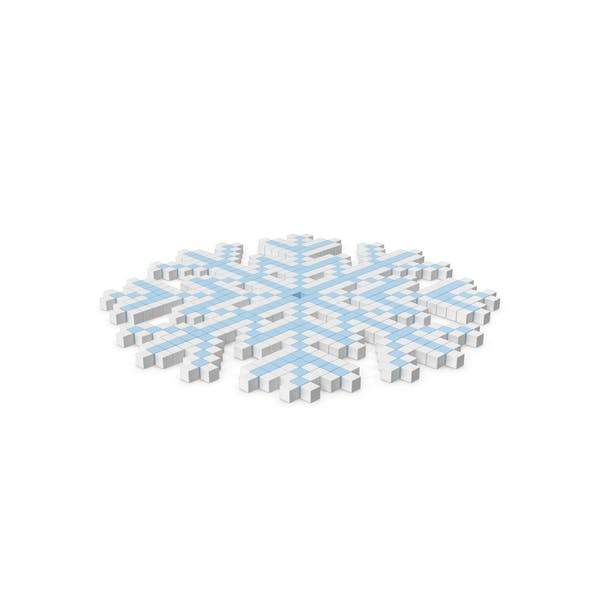 Cover Image for Snowflake Pixelated Icon