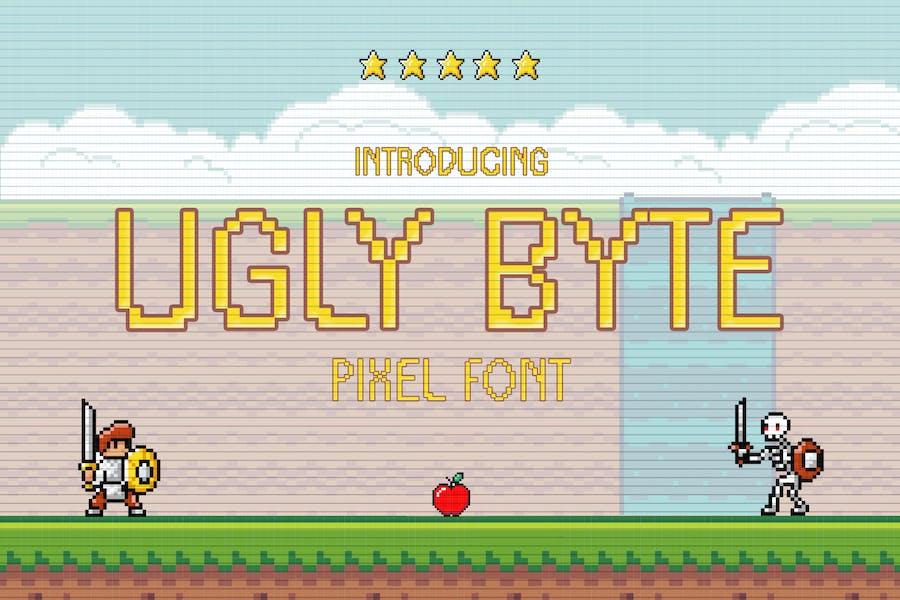 Ugly Byte - Pixel Font