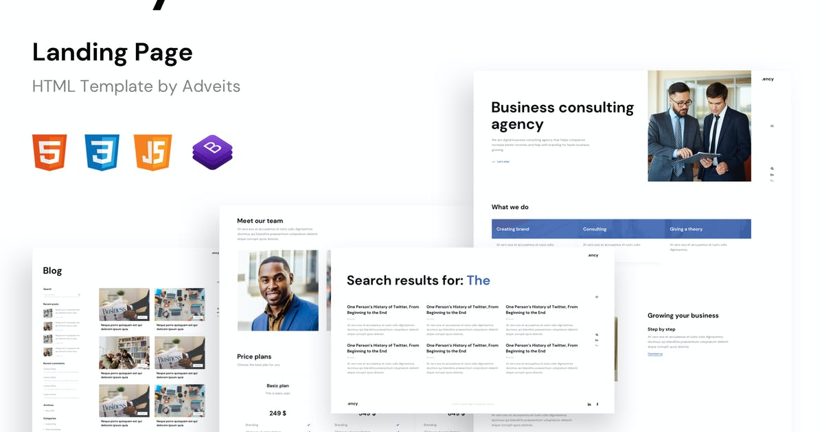 Download Ency - Landing Page HTML Template by adveits