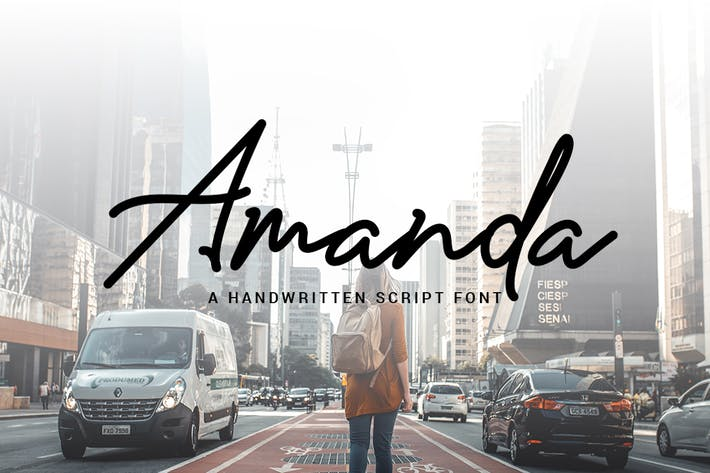 Аманда - фирменный монолитный шрифт