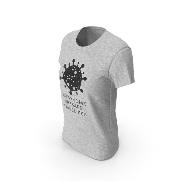 Womens Round Neck T-shirt Coronavirus Message