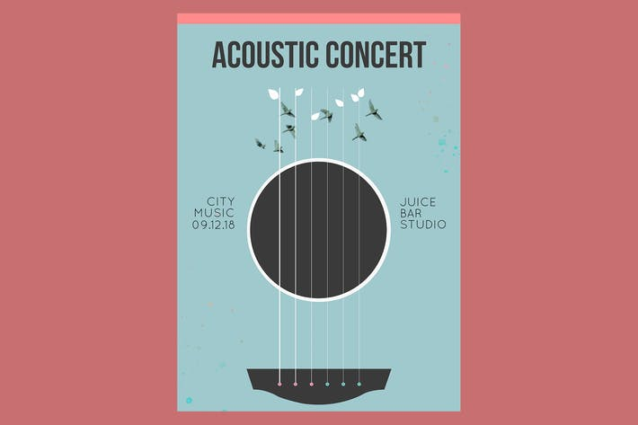 Thumbnail for Acoustic Concert Flyer Poster