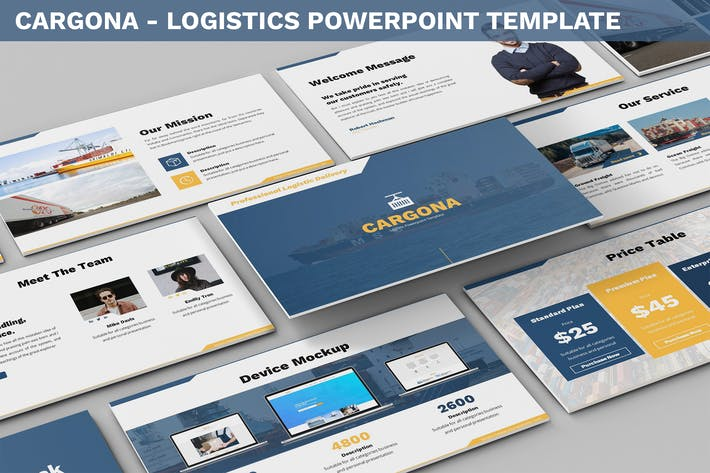 Thumbnail for Cargona - Logistics Powerpoint Template