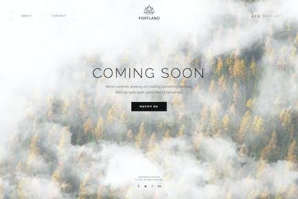 Portland — Creative Coming Soon & Maintenance Mode