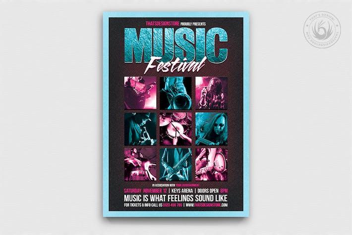 Thumbnail for Music Festival Flyer Template V4