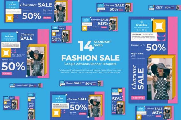 Fashion Sale Google Ads Banners