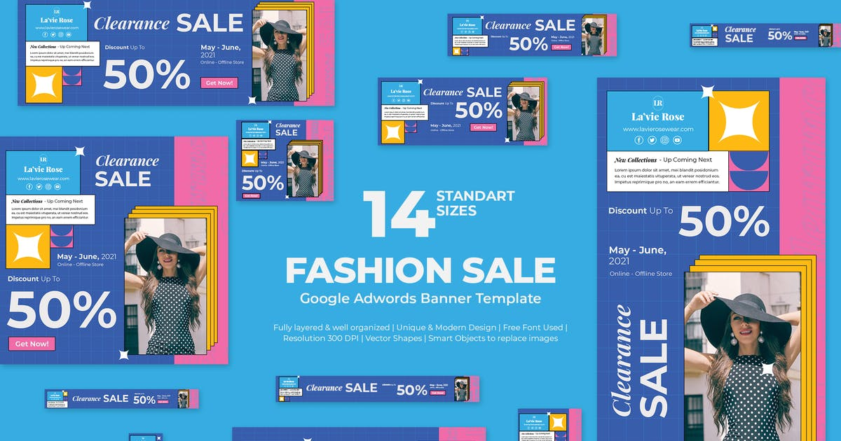 Download Fashion Sale Google Ads Banners by Gioraphics