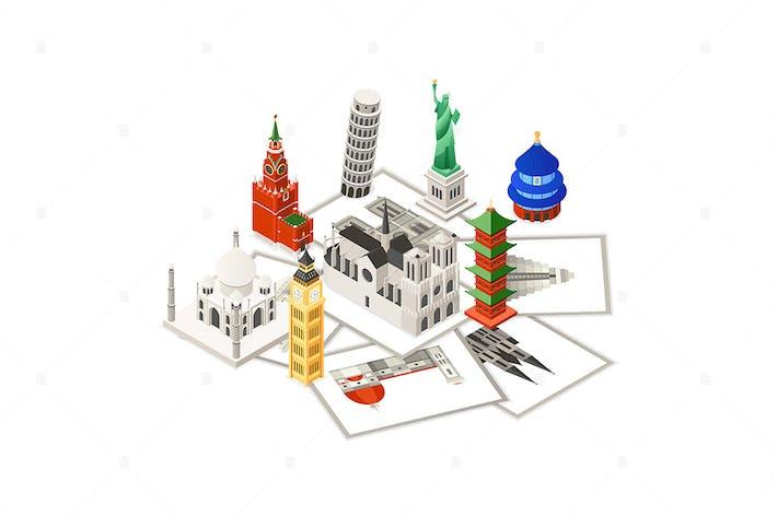 Thumbnail for Travel around the world - isometric illustration