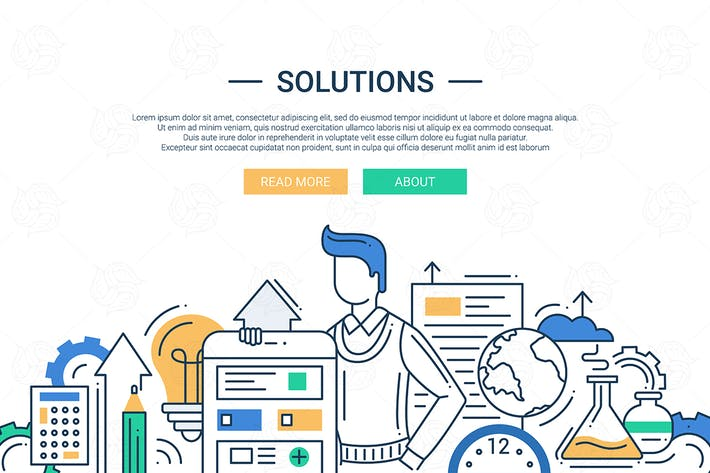 Thumbnail for Solutions - line design illustration