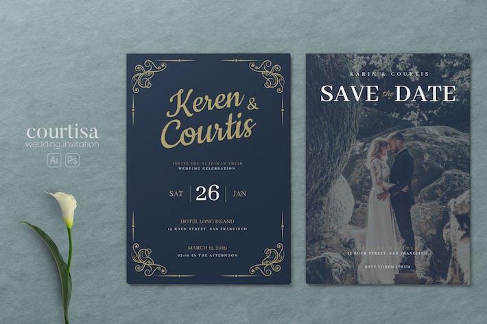 Thumbnail for Minimalist Wedding AI and PSD Invitation Vol.06