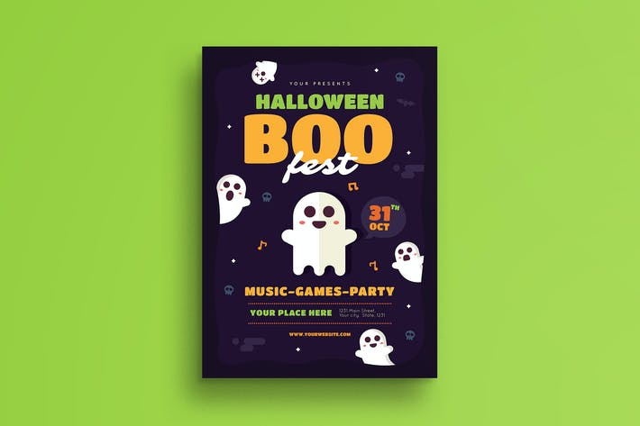 Thumbnail for Halloween Boo Festival Flyer