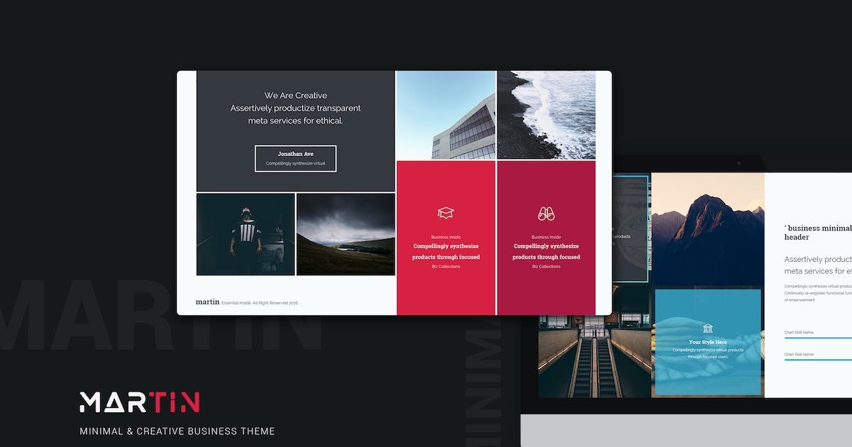 Martin Minimal & Creative Template by Unknow