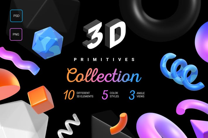 Thumbnail for 3d primitives collection