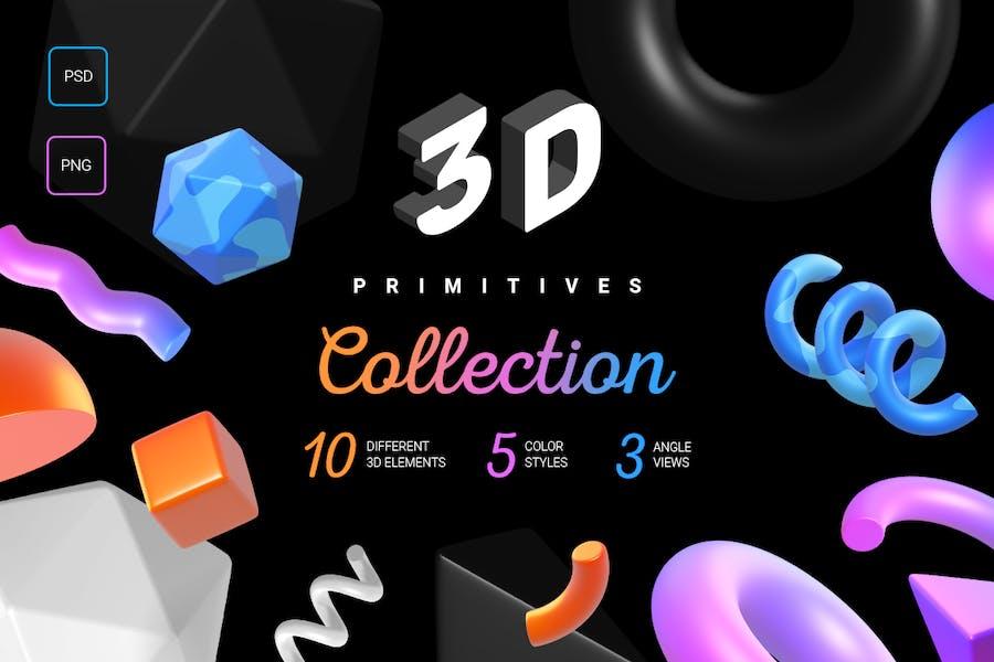 3d primitives collection
