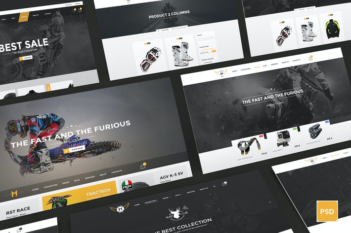 Thumbnail for Motor Vehikal - Motorcycle Online Store PSD