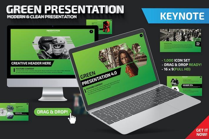 Thumbnail for Зеленый Шаблон презентации Keynote