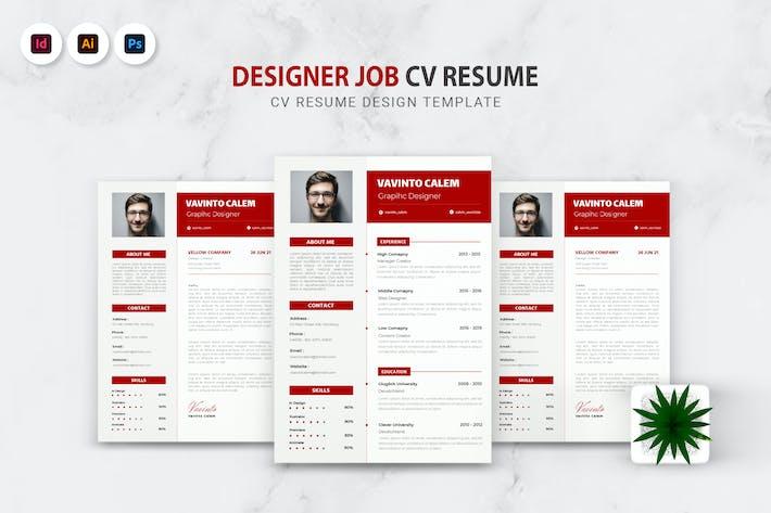 Thumbnail for Designer Job CV Resume