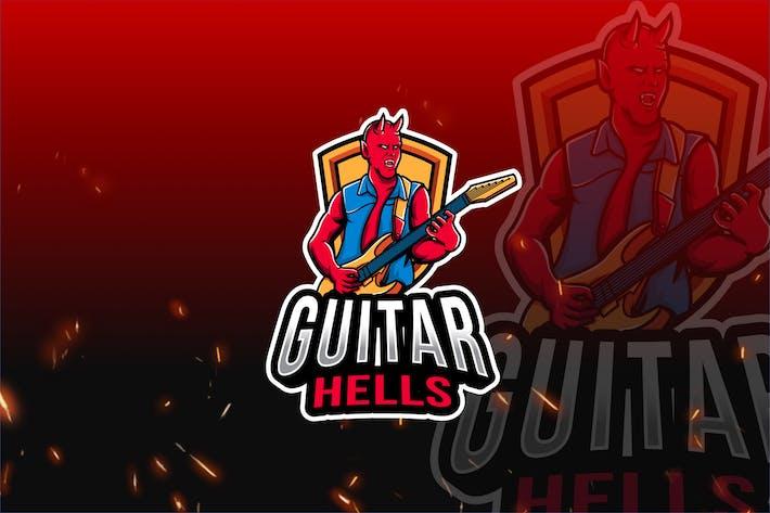 Thumbnail for Guitar Hells Esport Logo Template