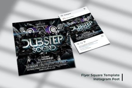Dubstep Sound Flyer & Social Post