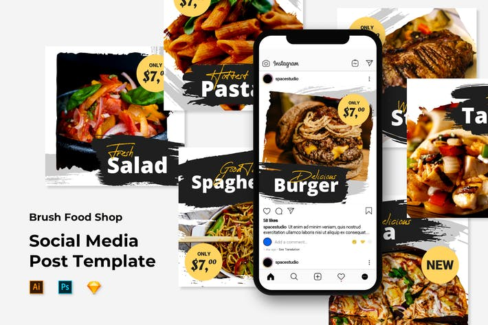 Thumbnail for Food instagram Templates