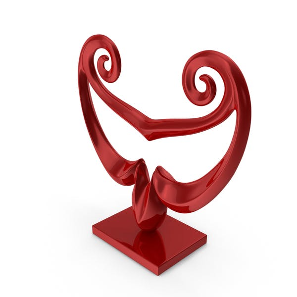 Abstract Figure Red