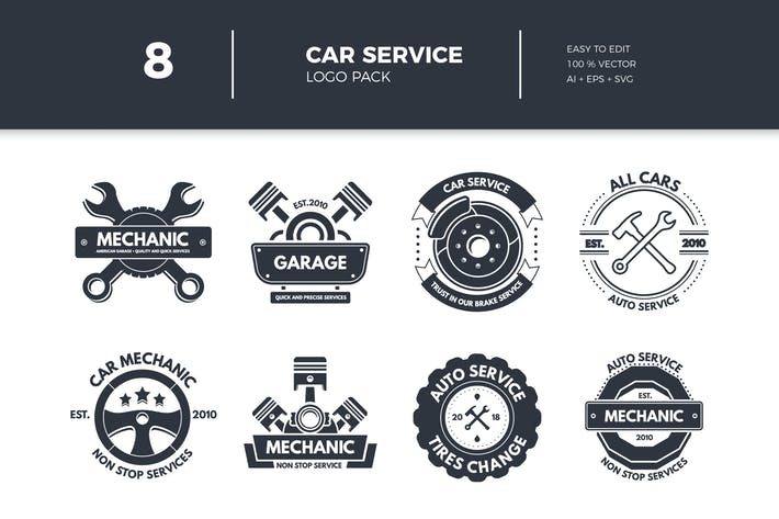 Thumbnail for Car Service Logo Collection