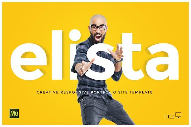 Elista - Creative Portfolio Site Template
