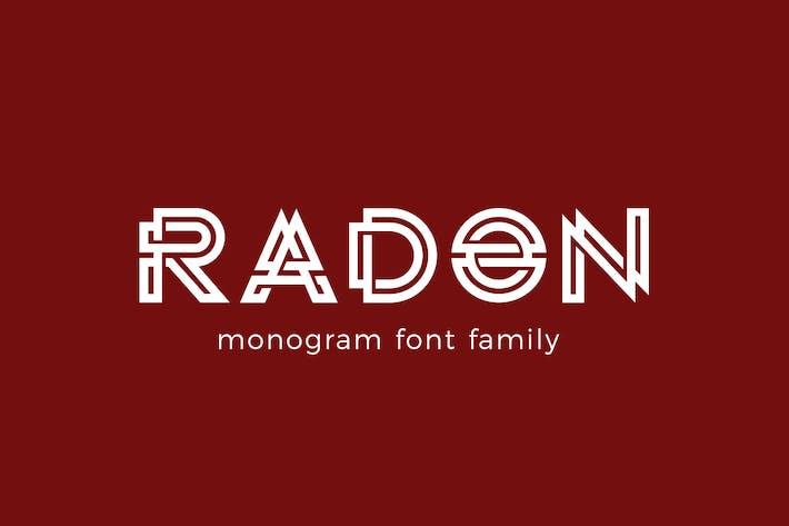 Thumbnail for Logo de monograma RADON FONT