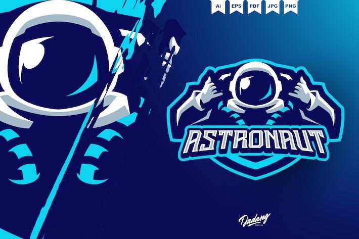 Astronaut Mascot Logo