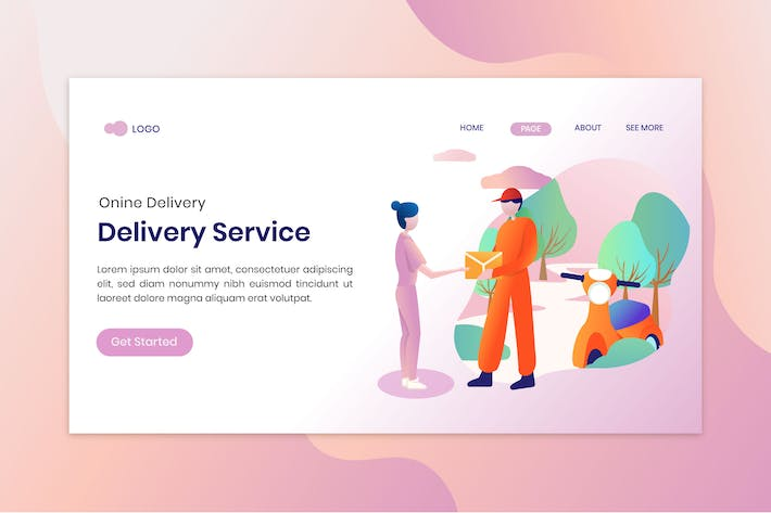 Thumbnail for Mobile delivery service concept illustration