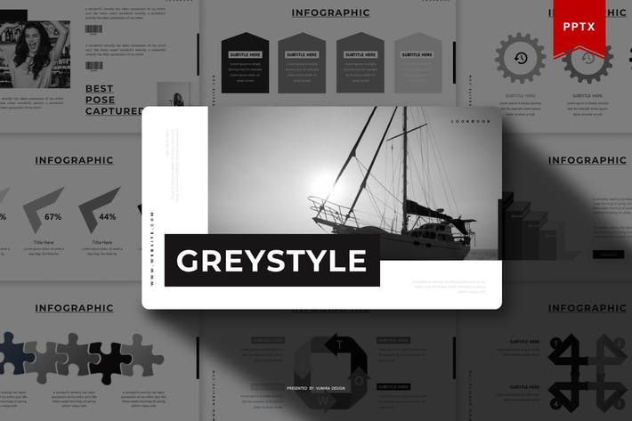 Thumbnail for Greystyle | Powerpoint Template