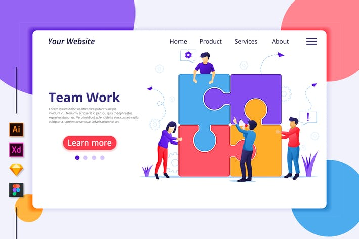 Thumbnail for Agnytemp - Team Work Illustration