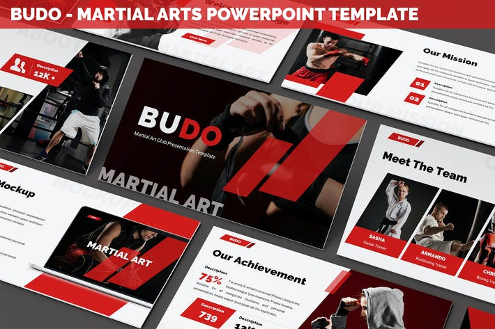 Thumbnail for Budo - Martial Arts Powerpoint Template