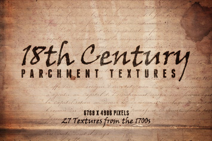 Thumbnail for 18th Century Parchment Textures Volume 1