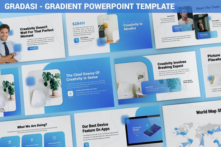 Thumbnail for Gradasi - Gradient Powerpoint Template