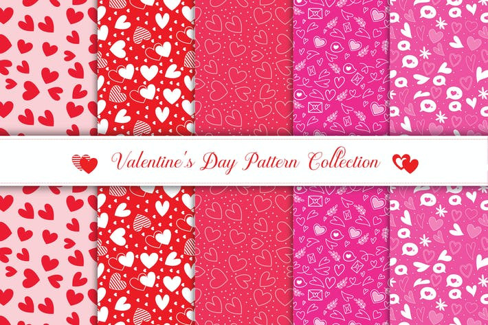 Thumbnail for Valentine's day pattern collection v3