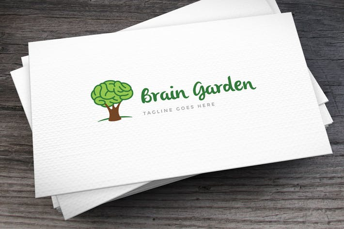 Thumbnail for Brain Garden Logo Template