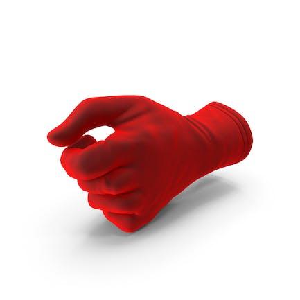 Glove Terciopelo Pulgar Objeto Hold Pose