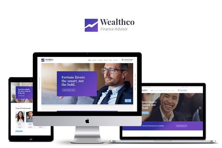 Thumbnail for WealthCo - Business & Financial Consulting Theme